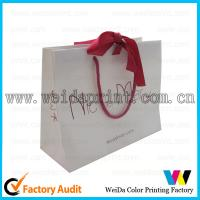 Buy cheap Colorful Gold Stamping 80gsm Brown Kraft Paper Carrier Bags Printed for Shopping​ from wholesalers