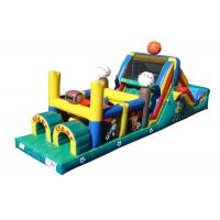 Buy cheap Funny Basketball Inflatable Obstacle Courses For Rent , Moon Bounce Obstacle Course from wholesalers