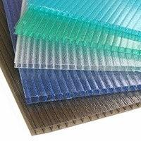 Buy cheap Opal Blue Green Hollow polycarbonate building panels / PC Plastic Sheet for Agricultural from wholesalers