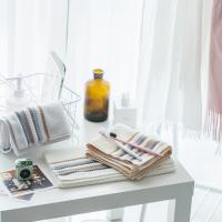 Buy cheap striped thickening cotton towel wholesale plain Fast Drying household adult face towel High Absorbent hand towel from wholesalers
