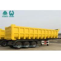 Buy cheap 24 Cbm Dump Tipper Semi Trailer 24 Cubic Meter Volume With Customized Logo from wholesalers