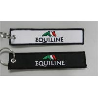 Buy cheap Equiline Easy Use Key Chain Luggage Tag Zipper Pull Fabric Embroidery Keychain from wholesalers