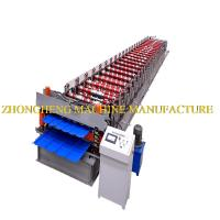 Buy cheap Fast Speed Metal Roof Panel Roll Forming Machine Hydraulic Cutting 4 + 4kw from wholesalers