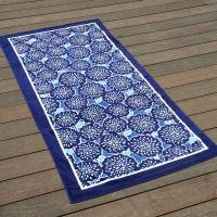 Male Dandelions Colorful Beach Towels Simple Blue Edge 100% Luxury Cotton