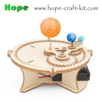 Buy cheap Science Earth Moon and Sun Solar  Moving Orbit Experiment Wooden Color Model Toys Kids DIY Toys STEM astronomy Education from wholesalers
