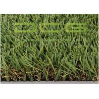 Buy cheap Green Brown Artificial Grass Rug / Artificial Football Turf For Balconies from wholesalers
