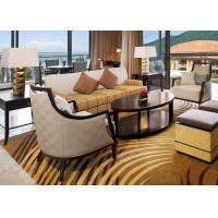 Custom Made Wood Fabric Hotel Lobby Sofa Set For Reception Center