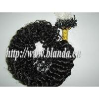 Buy cheap Remy Kinky Curly Micro Thread Hair Extension from wholesalers