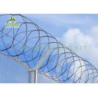 Buy cheap Anti Scaling Stainless Steel Concertina Wire / Coiled Barbed Wire For Border Fence from wholesalers