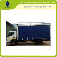 Buy cheap 650GSM green blue PVC coated tarpaulin for truck cover  trail cover durable Tb003 from wholesalers