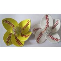 Buy cheap Softball Flower Accessory and hair clip,softball hair bows,sports accessories from wholesalers