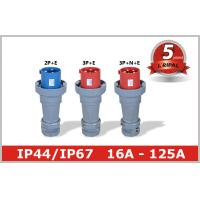 Buy cheap Outdoor Electric Industrial And Multiphase Power Plugs And Sockets 125A from wholesalers
