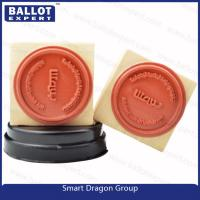 Buy cheap Custom Pre ink Wood Rubber Ink Stamp for Election Personal Use - 1 1/2 Round from wholesalers