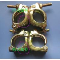 Buy cheap Casted Iron  Galvanized Double pressed Stamping Scaffolding Pipe Clamp swivel 48.3mm drop forged from wholesalers