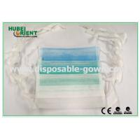 Buy cheap Custom Disposable Face Mask Hospital For Sickness / Non Woven Face Mask , 9*18cm Size from wholesalers