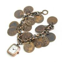 Buy cheap Brass Pocket Watch with Nice Bracelet from wholesalers