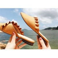 Buy cheap Low Heel Comfortable Clogs And Mules Supper Fiber Upper With Ruffles Around from wholesalers