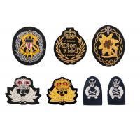 Buy cheap India Silk USA UK Crown Railway Security Hand Embroidered Aviation Flight Navy Cap Logo Custom product