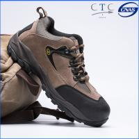 Buy cheap low cut climb&hike shoes suede split leather 1.4-1.6mm thick upper, dual pu outsole steel toe&plate available from wholesalers