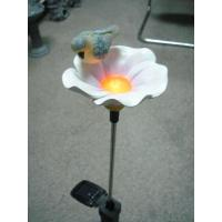 Buy cheap Epoxy Resin Crafts  garden thermometer decorative  Flower Light with Bird from wholesalers