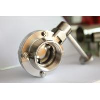 Buy cheap Stainless steel sanitary butterfly valve female thread from wholesalers