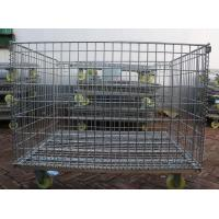Buy cheap Wire Mesh Container with Wheel,Removable Mesh Container,5.0-7.0mm,5x10cm product