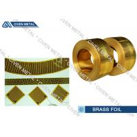 Buy cheap Double Shiny Soft Annealed Brass Foil Sheet Roll Strip For Transformer from wholesalers