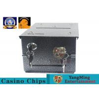 Buy cheap Fireproof Official Casino Poker Chip Lockable Cash Box Set With Gaming Poker Table from wholesalers