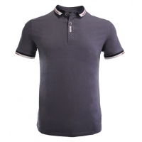 Buy cheap 160GSM Polyester Spandex Polo T Shirt For Men V Neck from wholesalers