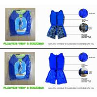 Buy cheap Sun protection kids floating swimwear / floatation swim suit / boy play in water size XXXL from wholesalers