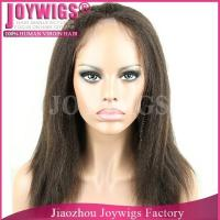 Buy cheap AAAAA grade factory price Russian yaki straight hair silk top full lace wig from wholesalers
