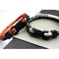 Buy cheap Black/Red/Blue Wrist Band Pure Titanium and Ceramic Power Balance Silicone Bracelet from wholesalers