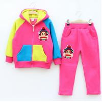 Buy cheap Hot! Fashion The new children suit / Korean boy / cartoon monkey / velvet / small fresh pants suit /Wholesale from wholesalers