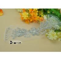 Buy cheap Handmade Clear Stone Wedding Dress Beaded Appliques For Bridal Sash from wholesalers