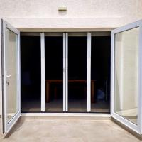Buy cheap Large size No mosquito DIY Retractable mosquito plisse fly screen door from wholesalers
