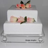 Buy cheap Transparent Acrylic Bakery Display Case Simple Design 5mm Thick Cake Display from wholesalers