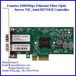 Buy cheap 1Gbps Gigabit Ethernet Dual Port Server Network Card, SFP Slot, PCI Express x4, LC Fiber from wholesalers