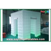 Buy cheap 2 Doors Inflatable Photo Booth LED Light 2.4m Color Changed With Blower from wholesalers