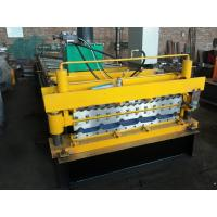 Buy cheap Galvanized Roofing Machine and Color Steel Roll Forming Machine With Hydraulic Cutter fOR PPGI and GI Metal Sheet from wholesalers