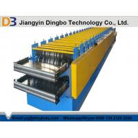 Buy cheap Roof Panel Roll Forming Machine With Hydraulic Cutting Type For Steel-structure Warehouse product