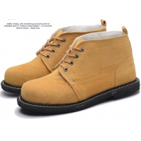 Buy cheap High Top Martin Boots With Tire Bottom Anti-Smashing Steel Toed Suede Leather Welding Safety from wholesalers