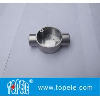 Quality TOPELE 20mm / 25mm BS4568 / BS31 Electrical Two Way Circular Angle Aluminum Junction Box, Electrical Conduit Fittings for sale