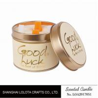 Buy cheap Really Good Smelling Scented Tin Candles With Round And Top Printing Sticker product