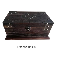 Buy cheap OEM Vintage Wooden 1L Treasure Chest Storage Trunk from wholesalers