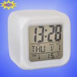 Buy cheap 7 Clolors Shining Alarm Clock from wholesalers