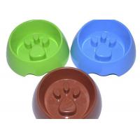 Buy cheap Bule / Green / Brown Plastic Pet Products Non Toxic ABS Paw Shape Slow Feed Dog Bowl from wholesalers
