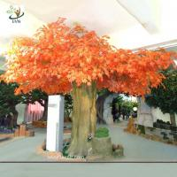 Buy cheap UVG 10ft orange large indoor artificial maple tree with hollow trunk for home decoration from wholesalers