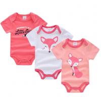 Buy cheap Short Sleeve Newborn Baby Girl Clothes Gift Sets With Envelope Neck Cartoon Pictures from wholesalers