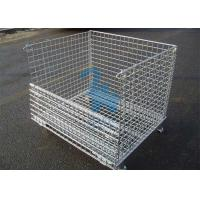 Buy cheap Fireproof Wire Mesh Storage Cages Containers For Hardware Tools 1500kgs Loading Capacity from wholesalers