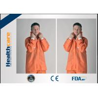 Buy cheap Orange PP/SMS Disposable Protective Coveralls With Elastic Cuff Wrists And Ankles from wholesalers